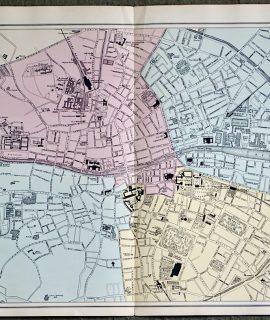 Antique Map, Plan of Dublin, 1891