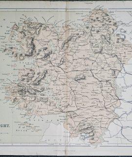 Antique print, Connaught, 1880