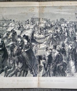Antique Print, The Brighton Season-the Parade in the Afternoon, 1873