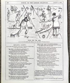 Vintage print, Polo on the sea, 1875