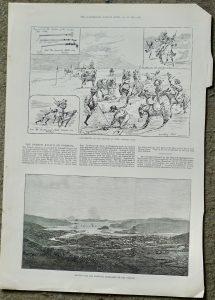 Antique Print, Amusements... Donkey Polo, 1881