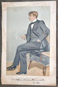 Antique Print, Alfred Charles William Harmsworth, 1895
