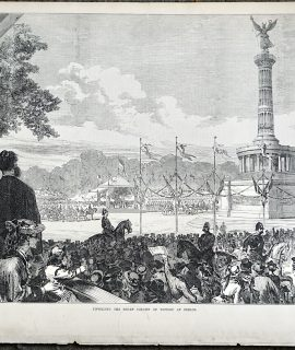 Antique Print, Unveiling the Sedan Column of Victory at Berlin, 1873