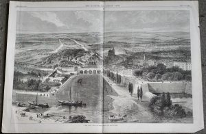 Antique Print, The War View of Metz from the South-West, 1870