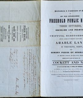 Antique Conditions of Sale an Old Established Freehold, 1840