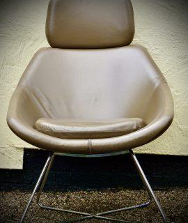Retro Style Leather Armchair