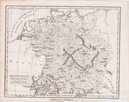 Antique Map. Germania Antiqua, 1805