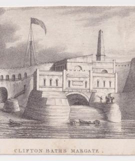 Antique Engraving Print, Clifton Baths Margate, 1830