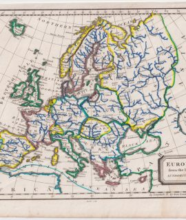 Antique Map, Europe from the best Authorities, 1809