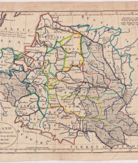 Antique Map, Poland, 1793