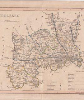 Antique Print, Middlesex, ca.