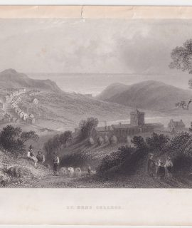 Antique Engraving Print, St. Bees College, 1841