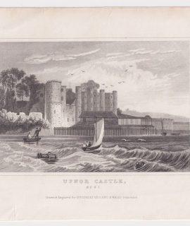 Antique Engraving Print, Upnor Castle, Kent, 1840
