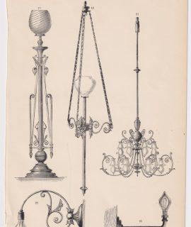 Antique Print, Electric Lighting, 1891