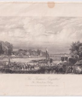 Antique Engraving Print, The Thames Regatta, 1852