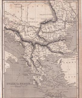 Antique Print, Turkey in Europe, 1809