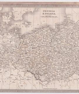 Antique Map, Prussia & Poland, 1808