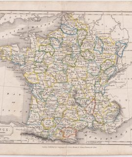 Antique Map, France in Departments, 1809