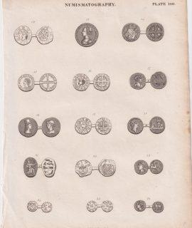 Antique Print, Numismatography, 1830