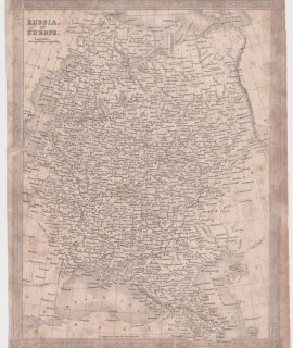 Antique Map, Russia in Europe, 1808
