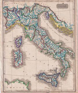 Antique Print, Italy, 1802