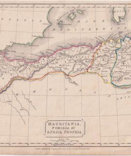 Antique Map, Mauritania, Numidia, et Africa Propria, 1826