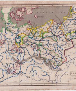Antique Map, Prussia, 1809