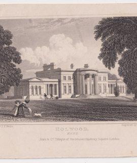 Antique Engraving Print, Holwood, Kent, 1810
