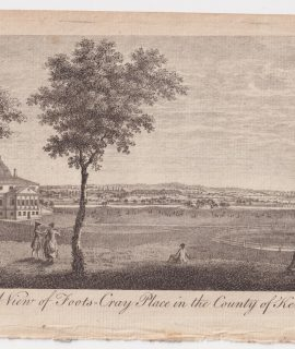 Antique Engraving Print, A view of Foots-Cray Place, Kent, 1776