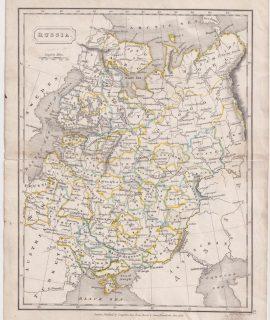 Antique Map, Russia, 1826