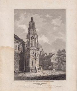 Antique Engraving Print, Waltham Gross, Hertfordshire, 1806
