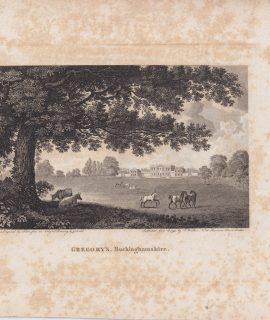 Antique Engraving Print, Gregory's Buckinghamshire, 1793