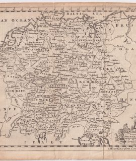 Antique Map, Germany, 1758
