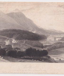 Antique Engraving Print, Westport, 1836