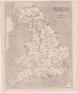 Antique Map, Britannia Antiqua, 1898