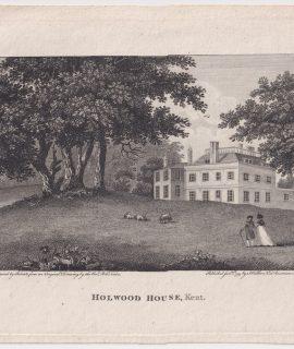 Antique Print, Holwood House, Kent, 1795