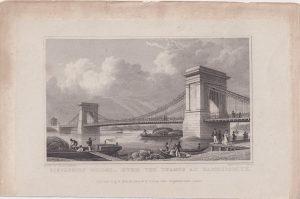 Antique Engraving Print, 1828