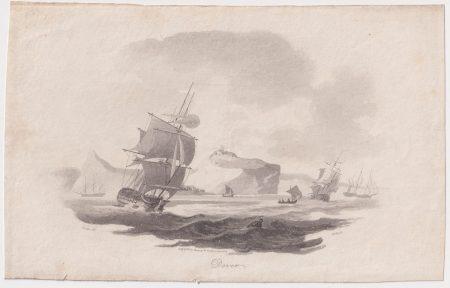 Antique Engraving Print, Dover, 1802