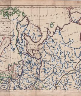 Antique Map, Northern Part of Russia or Muscovy, 1790
