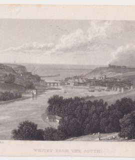 Antique Engraving Print, Whitby from the South, 1834