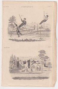Antique Print, Gymnastics, 1802