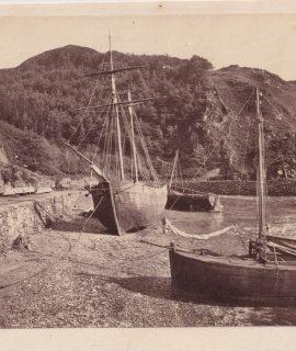 Vintage Photograf, Aberaeron Georgian Harbour Town, 1920