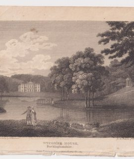 Antique Engraving Print, Wycombe House, Buckinghamshire, 1803