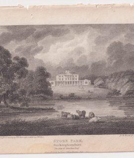 Antique Engraving Print, Stoke Park, Buckinghamshire, 1802