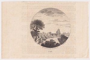 Antique Engraving Print, Nutley Abby, 1770 ca.