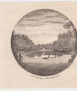 Antique Engraving Print, The Canal at Gubbins, 1770 ca.