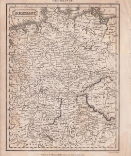 Antique Map, Germany, 1820