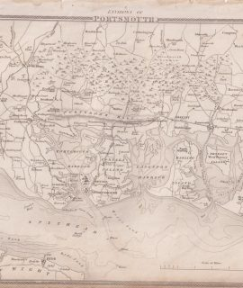 Antique Map, Environs of Portsmouth, 1841