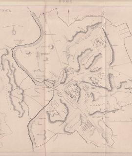 Antique Map, Roma Antiqua, 1870