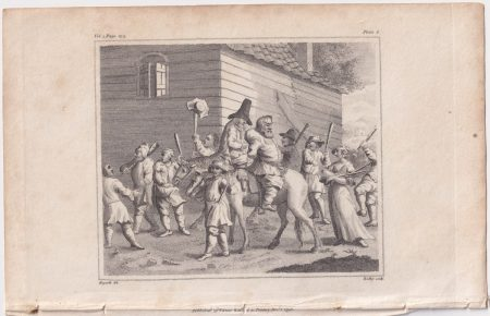 Antique Engraving Print, The hunchback, 1798